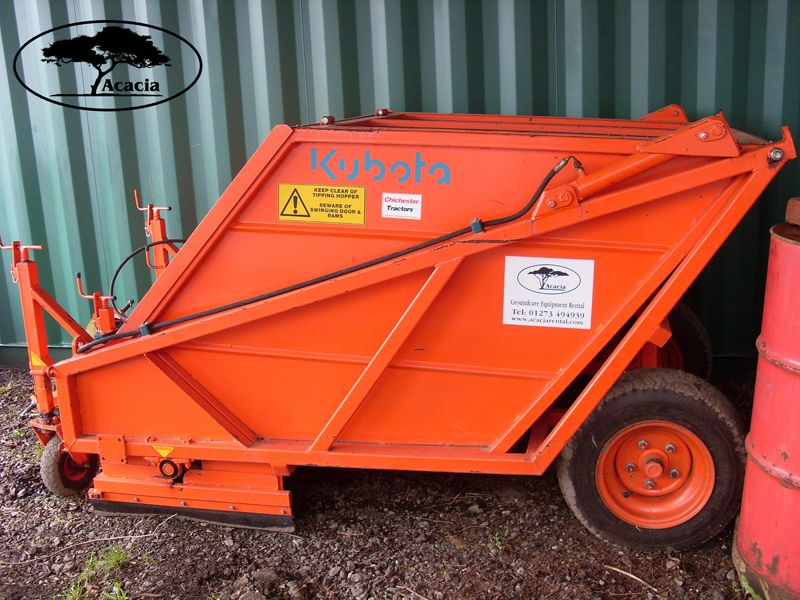 Kubota 1.2m Sweeper Collector Hire